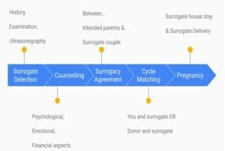What is the surrogacy procedure involved